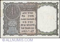 Imaginea #2 a 1 Rupee 1951 - Semnătură  K. G. Ambegaonkar