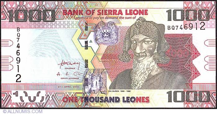 Sierra Leone 5000 Leones 2010 P-32 Banknotes UNC