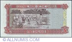 Imaginea #2 a 5 Dalasis ND (1996) - Serial numbers printed unevenly.