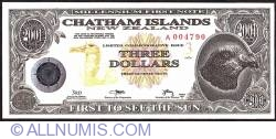 Image #1 of 3 Dollars (300 Cents) 2001 B.