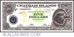 Image #1 of 5 Dollars (500 Cents) 2001 B.
