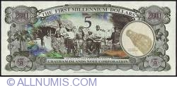 Image #2 of 5 Dollars (500 Cents) 2001 B.