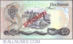 Image #2 of 5 Pounds 1977 - Specimen