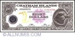Image #1 of 8 Dollars (800 Cents) 2001 B.