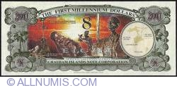 Image #2 of 8 Dollars (800 Cents) 2001 B.