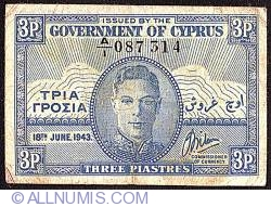 Image #1 of 3 Piastres 1943 (18 June)