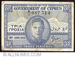 3 Piastres 1943 (18 Iunie)