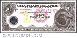 Image #1 of 10 Dollars (1,000 Cents) 2001 B.