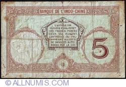 Image #2 of 5 Francs ND (1941)