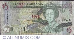 Image #1 of 5 Dolari ND (1994) - G (Grenada)