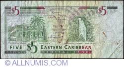 Image #2 of 5 Dolari ND (1994) - G (Grenada)