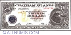 Image #1 of 15 Dollars (1,500 Cents) 2001 B.