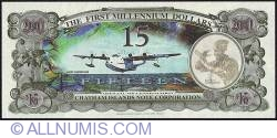 Image #2 of 15 Dollars (1,500 Cents) 2001 B.
