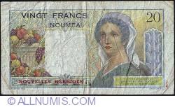 Image #2 of 20 Francs ND (1941-1945)