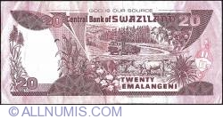 Imaginea #2 a 20 Emalangeni 2001