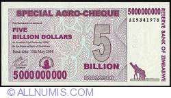 Imaginea #1 a 5 Billion Dollars (5 000 000 000) 2008 (15. V.)