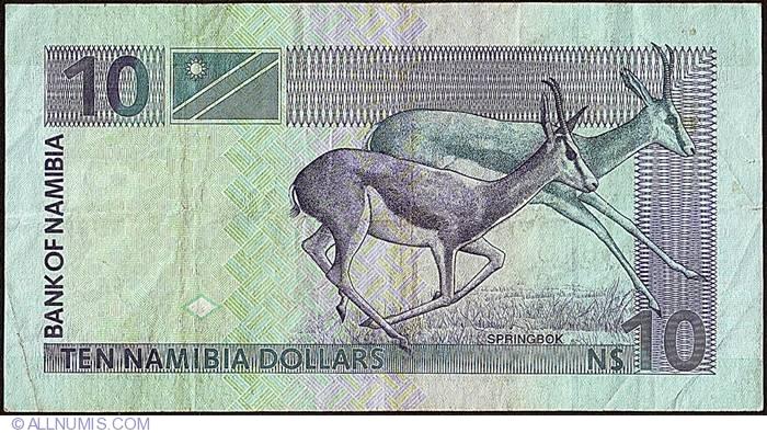 2001 Namibia UNC /> Antelopes A-Prefix ND 10 dollars Pick 4