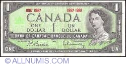 1 Dollar 1967 - Centenary of Canadian Confederation - Double dates