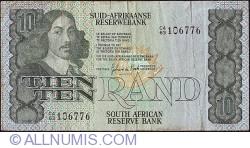 Imaginea #1 a 10 Rand ND (1981) - sign G. P. C. de Kock