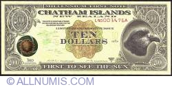 Image #1 of 10 Dollars (1,000 Cents) 1999 A.